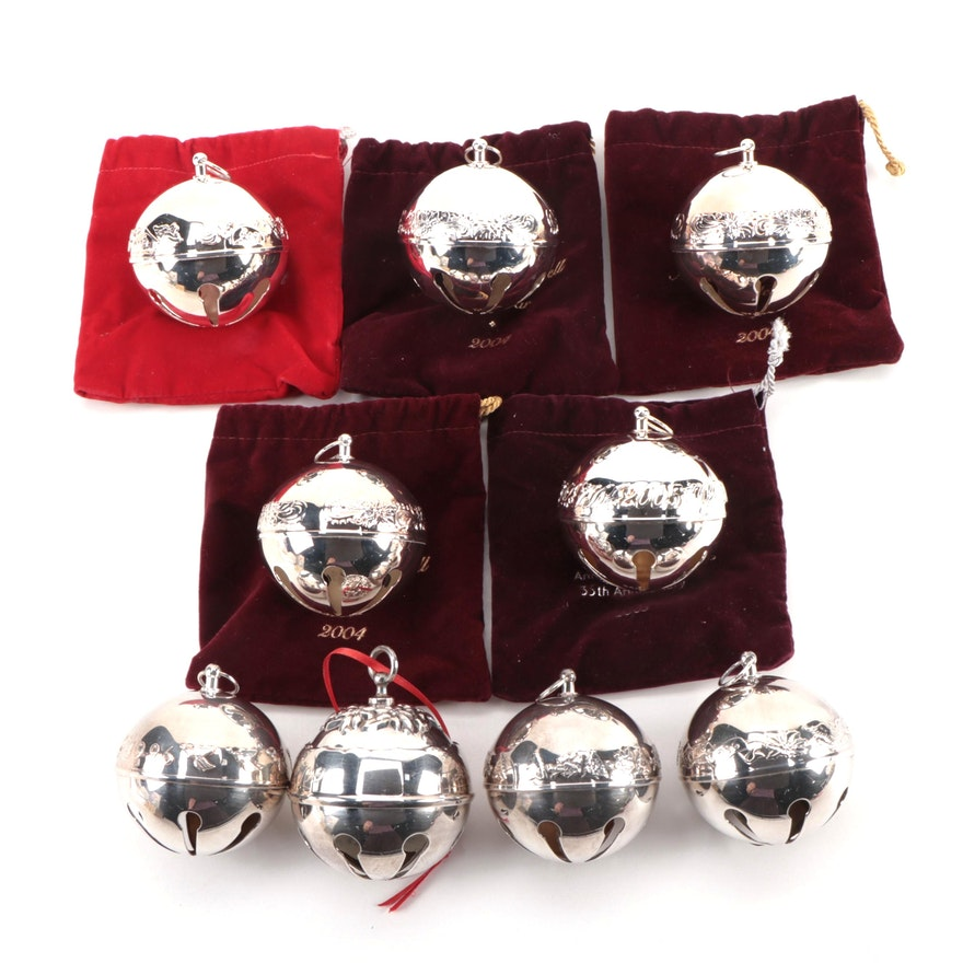 Wallace and Reed & Barton Sterling Silver Jingle Bell Ornaments