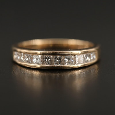 14K Diamond Channel Set Ring