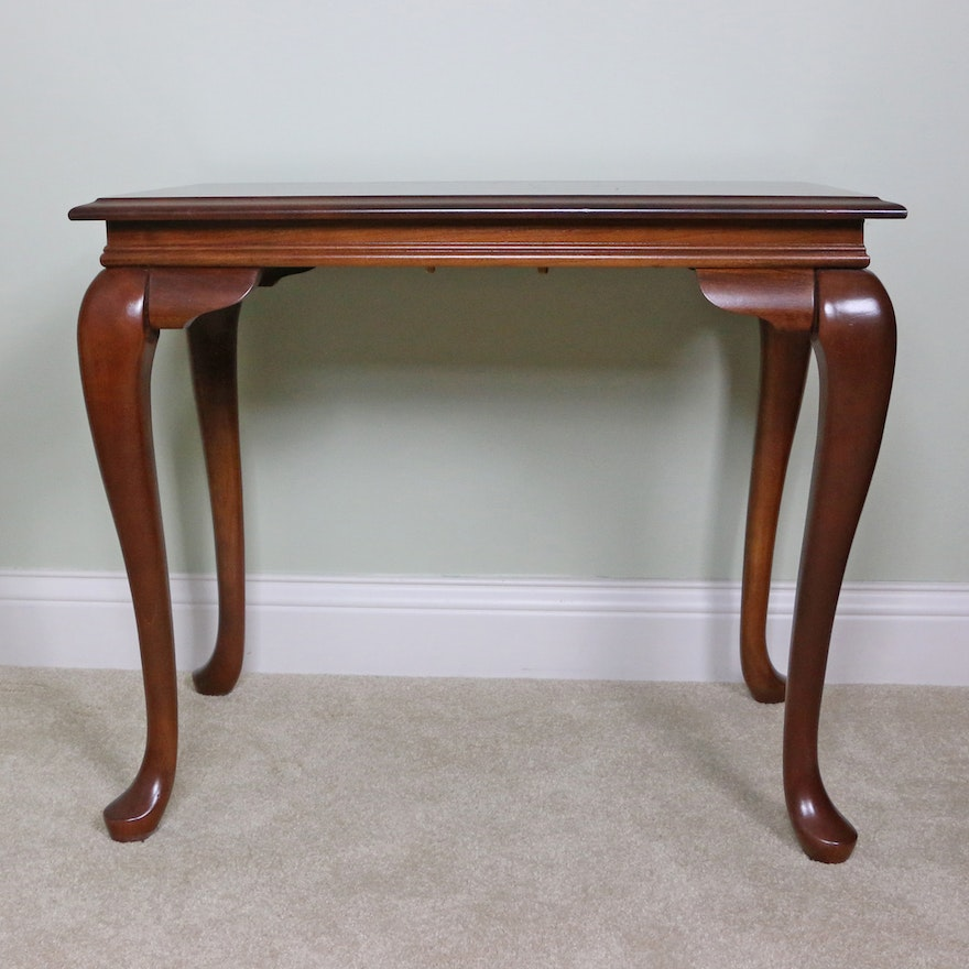 Queen Anne Style Mahogany Tea Table, Late 20th Century