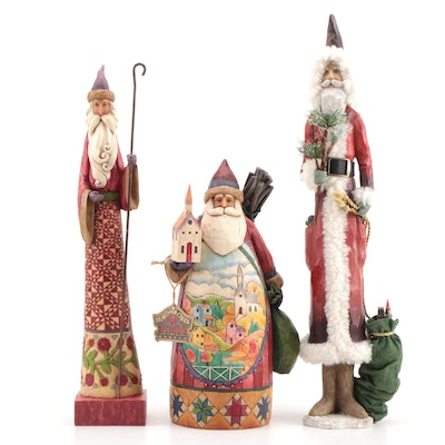 Heartland Creek Hand Crafted Wooden Santa Claus