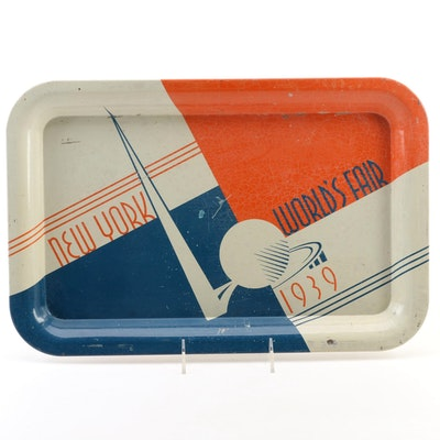 New York World's Fair Tin Lithograph Serving Tray, 1939