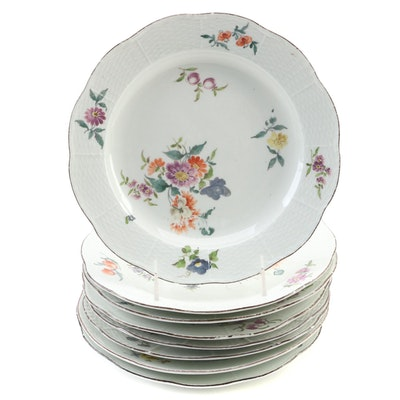 Meissen Porcelain Soup Plates, Early 19th Century