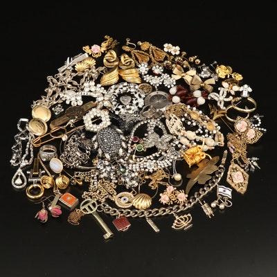 Collection of Jewelry Featuring Crown Trifari and Austrian Crystal