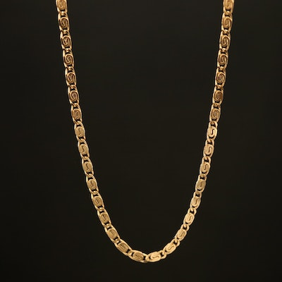 Milor 18K Scroll Chain Necklace