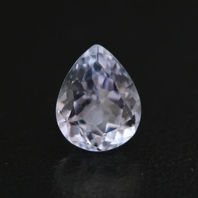 Loose 1.34 CT Pear Faceted Tanzanite