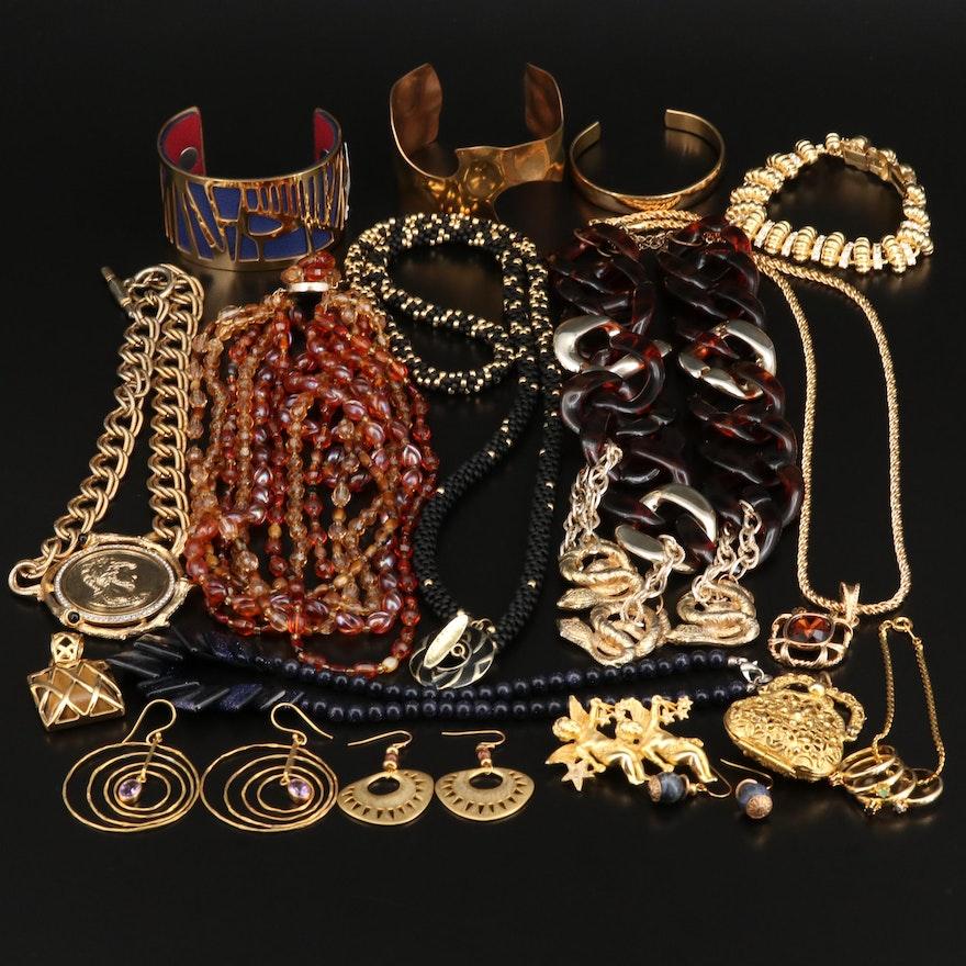 Collection of Jewelry with Camrose & Kross Jacqueline Bouvier Kennedy Bracelet