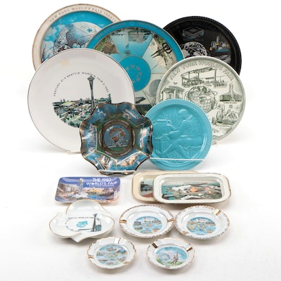 World's Fair Souvenir Trays, Dishes, Plates, and More, Mid to Late-20th Century