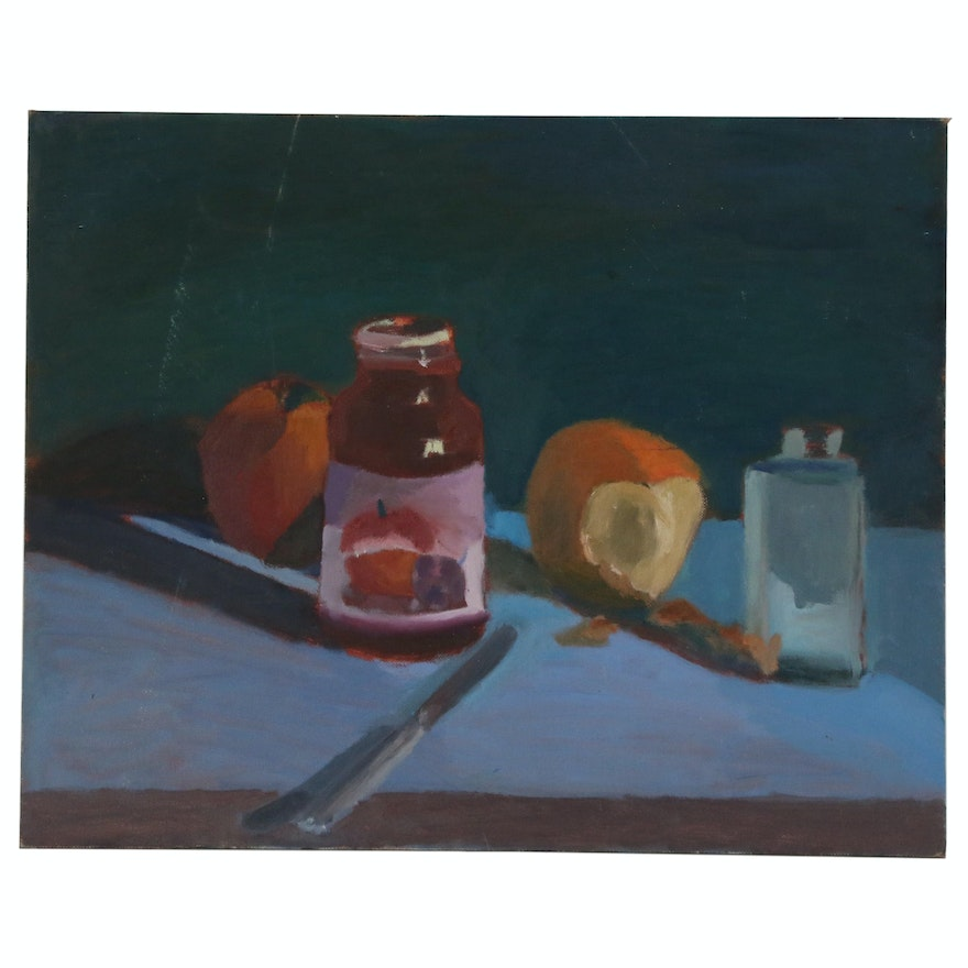 Jerry Mironov Still Life Oil Painting, Late 20th Century