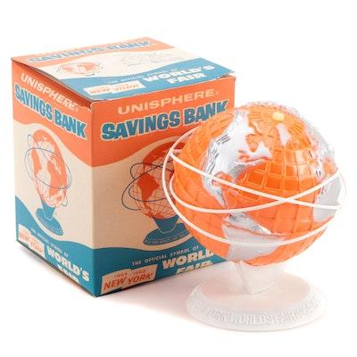 Unisphere 1964-1965 New York World's Fair Savings Bank in Original Packaging