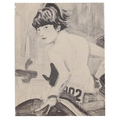 "Elizabeth Peyton Lithograph ""John (John F. Kennedy, Jr. on Horseback)"", 2000"