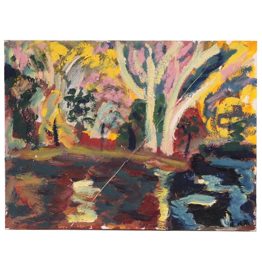 Jerald Mironov Abstract Impasto Oil Painting