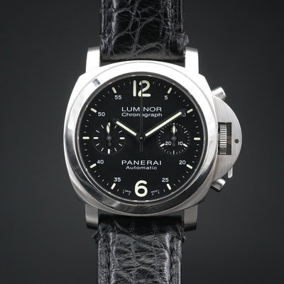 Panerai Luminor Chronograph Stainless Steel Automatic Watch, Ltd.Ed 377/500