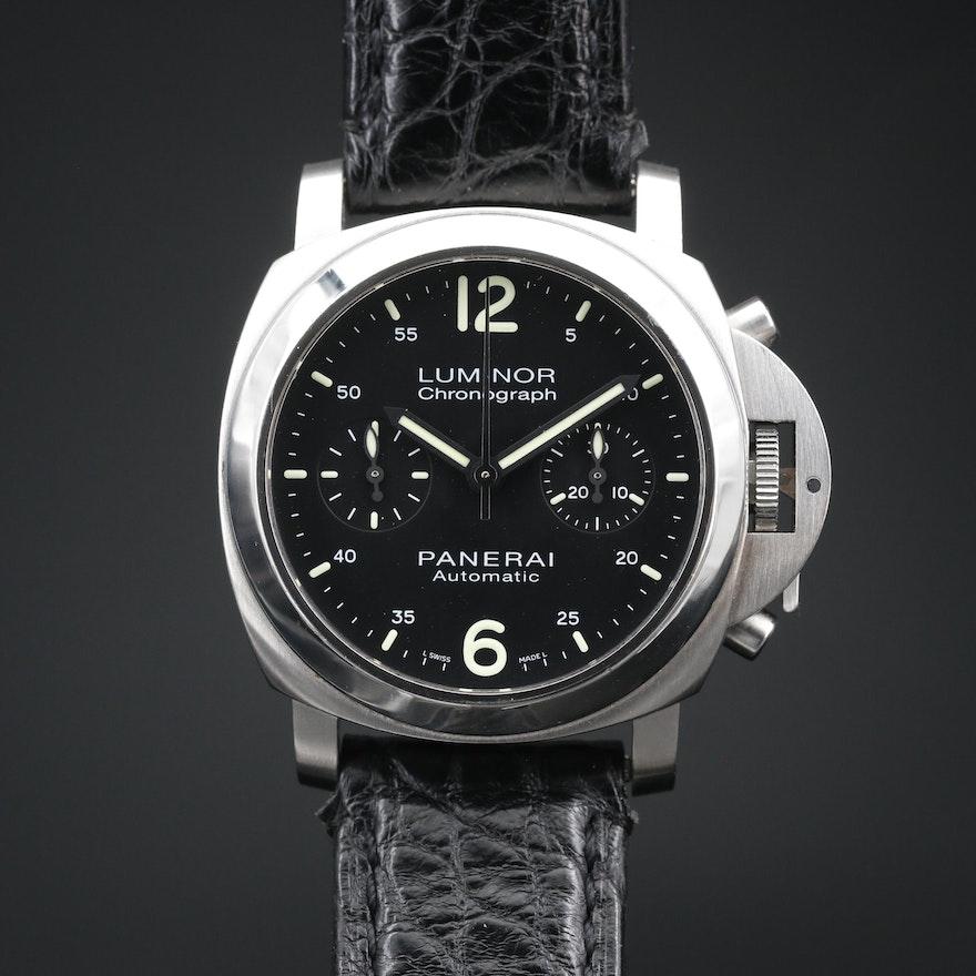 Panerai Luminor Chronograph Stainless Steel Automatic Watch, Ltd.Ed 377/500