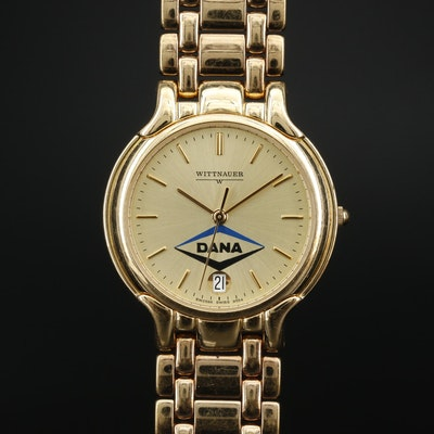 "Wittnauer ""Dana Inc."" Dial Gold Tone Quartz Wristwatch"