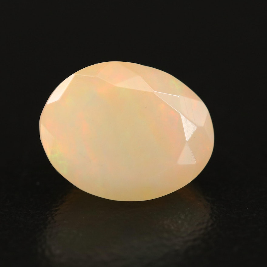 Loose 3.95 CT Oval Faceted Opal