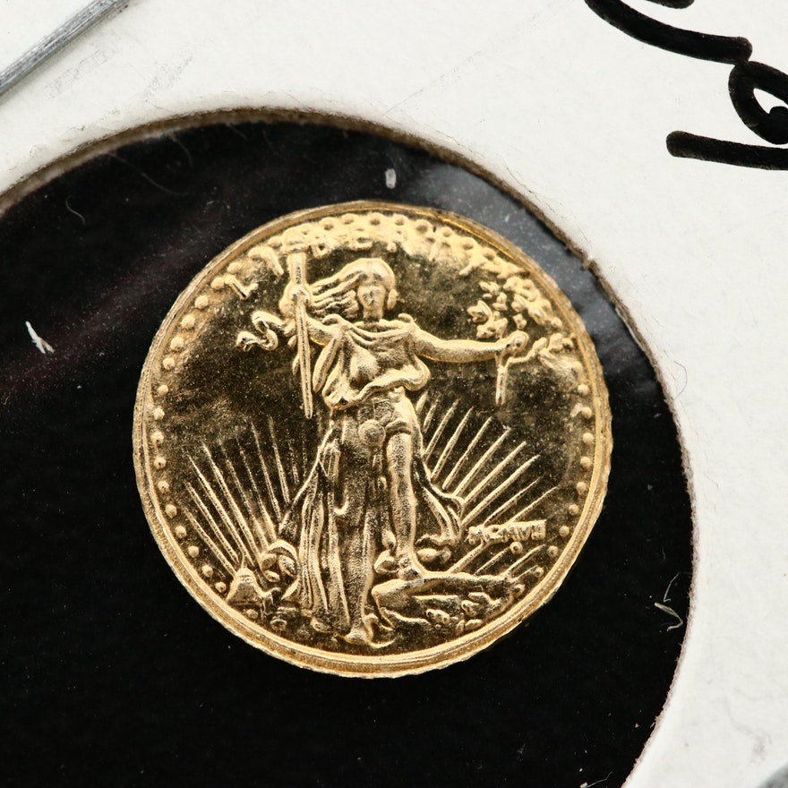 Saint-Gaudens 10 Karat Gold Double Eagle Miniature Replica