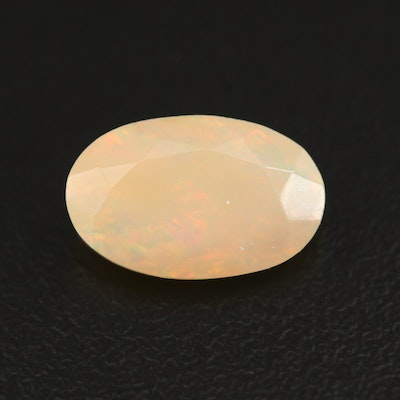 Loose 2.09 CT Oval Faceted Opal