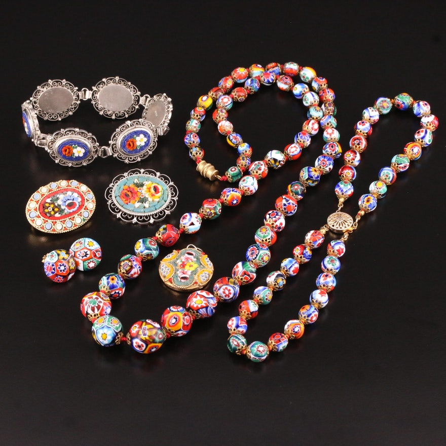 Italian Millefiore and Micromosaic Jewelry