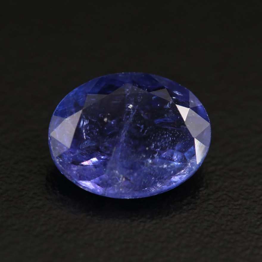 Loose 6.04 CT Oval Faceted Tanzanite