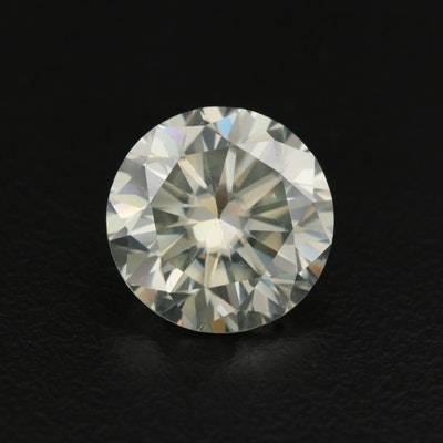 Loose Round Faceted Laboratory Grown Moisssanite