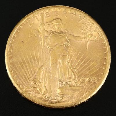 1909-S Saint-Gaudens $20 Gold Double Eagle