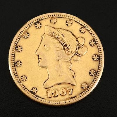 1907-D Liberty Head $10 Gold Eagle