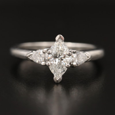 Platinum 1.02 CTW Diamond Ring