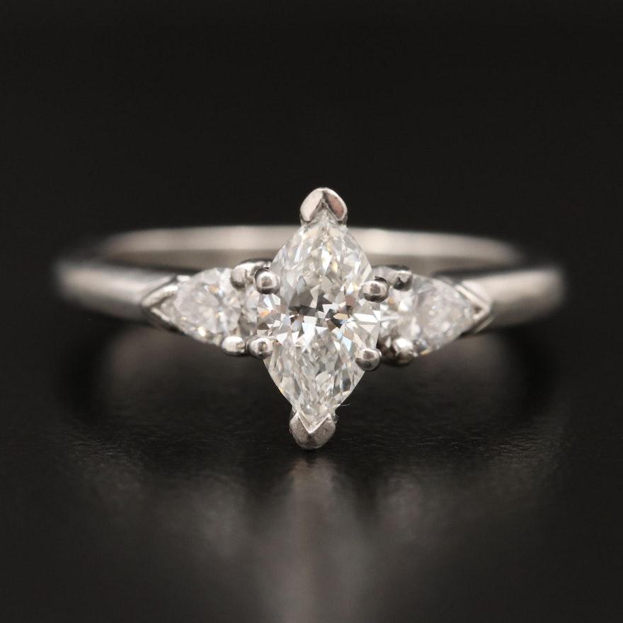 Platinum 1.02 CTW Diamond Ring