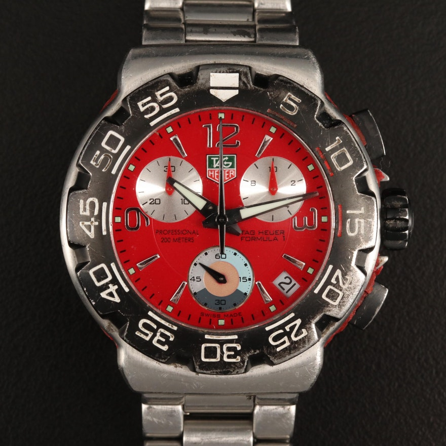 TAG Heuer Formula 1 Stainless Steel Chronograph Wristwatch