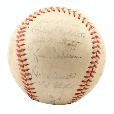 1950-51 Philadelphia Phillies Stamped Baseball