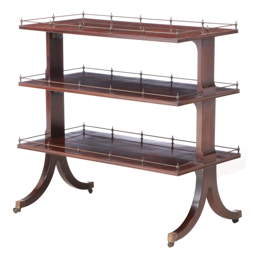 Classical Style Mahogany Three-Tier Buffet, 20th Century