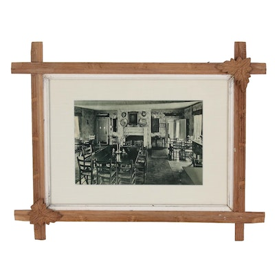"""Digital Photograph of the Historic """"Hay Fever"""" House Interior, Late 20th Century"""