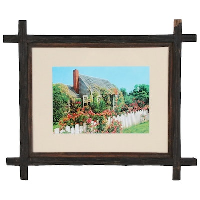 """Hand-Colored Style Digital Photograph of the Historic """"Hay Fever"""" House"""