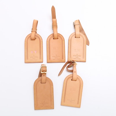 Louis Vuitton Vachetta Leather Luggage Tags