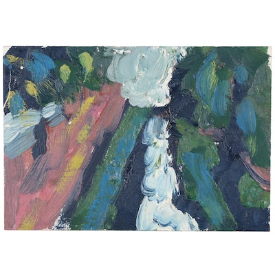 Jerry Mironov Abstract Landscape Oil Painting, 1998