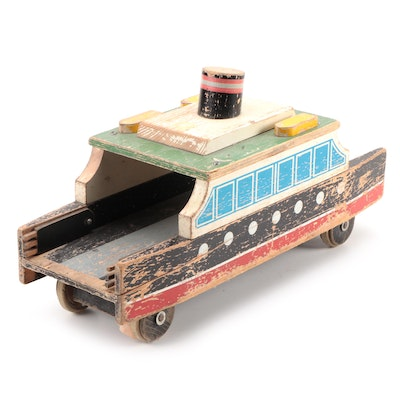 Bench Made Wooden Duck Boat, Mid-20th Century