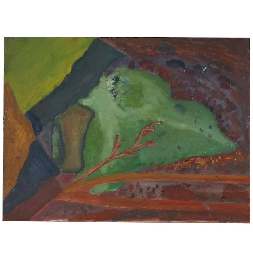 Jerry Mironov Abstract Oil Painting, Late 20th Century