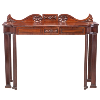 English Carved Mahogany Server, 19th Century and Later