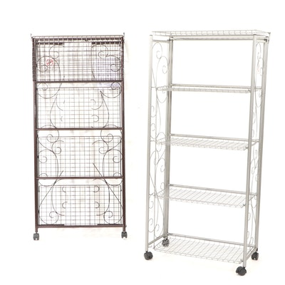 Oasis Concepts Wire Collapsible Rolling Shelves