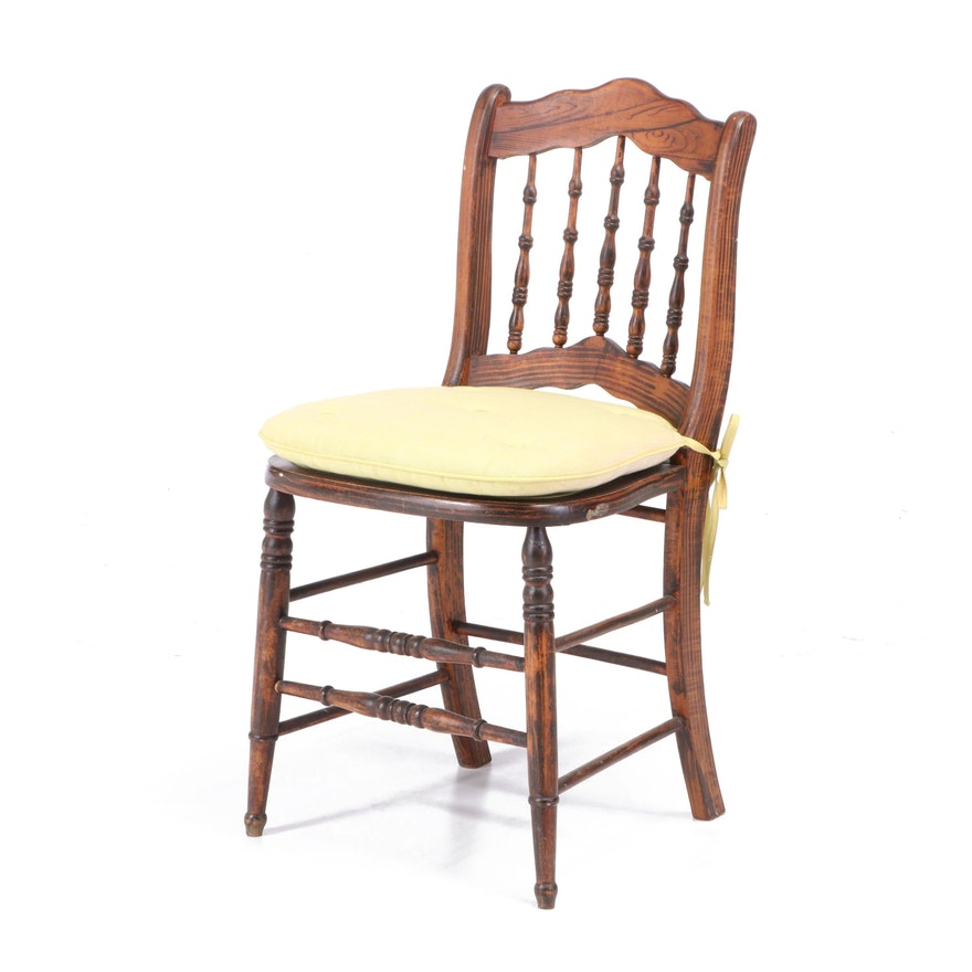 Victorian Grain-Painted Side Chair, Second Half 19th Century