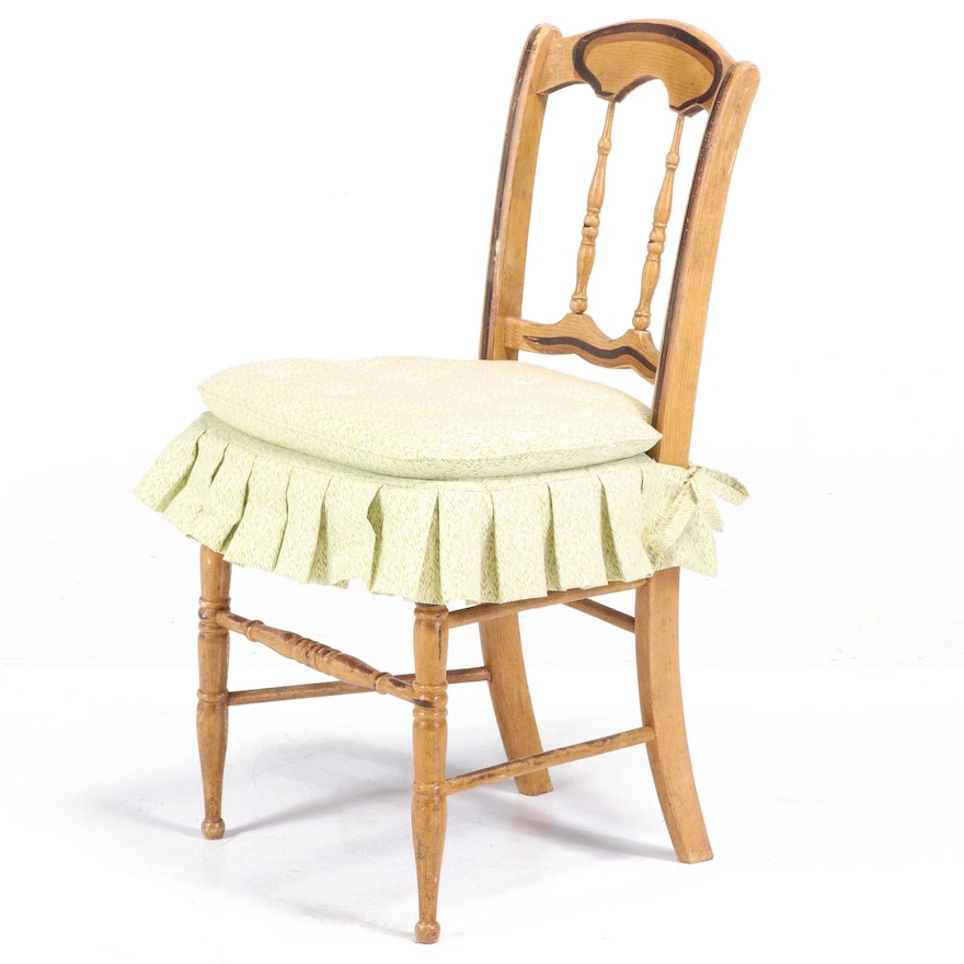 Victorian Paint-Decorated Side Chair, Second Half 19th Century
