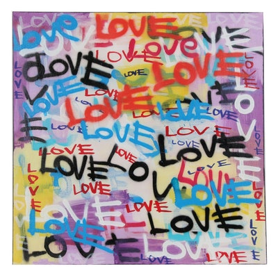 R.C. Raynor Graffiti Style Acrylic Painting, 2020