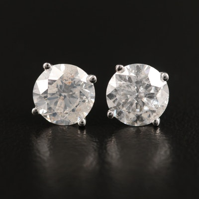 14K 1.71 CTW Diamond Stud Earrings
