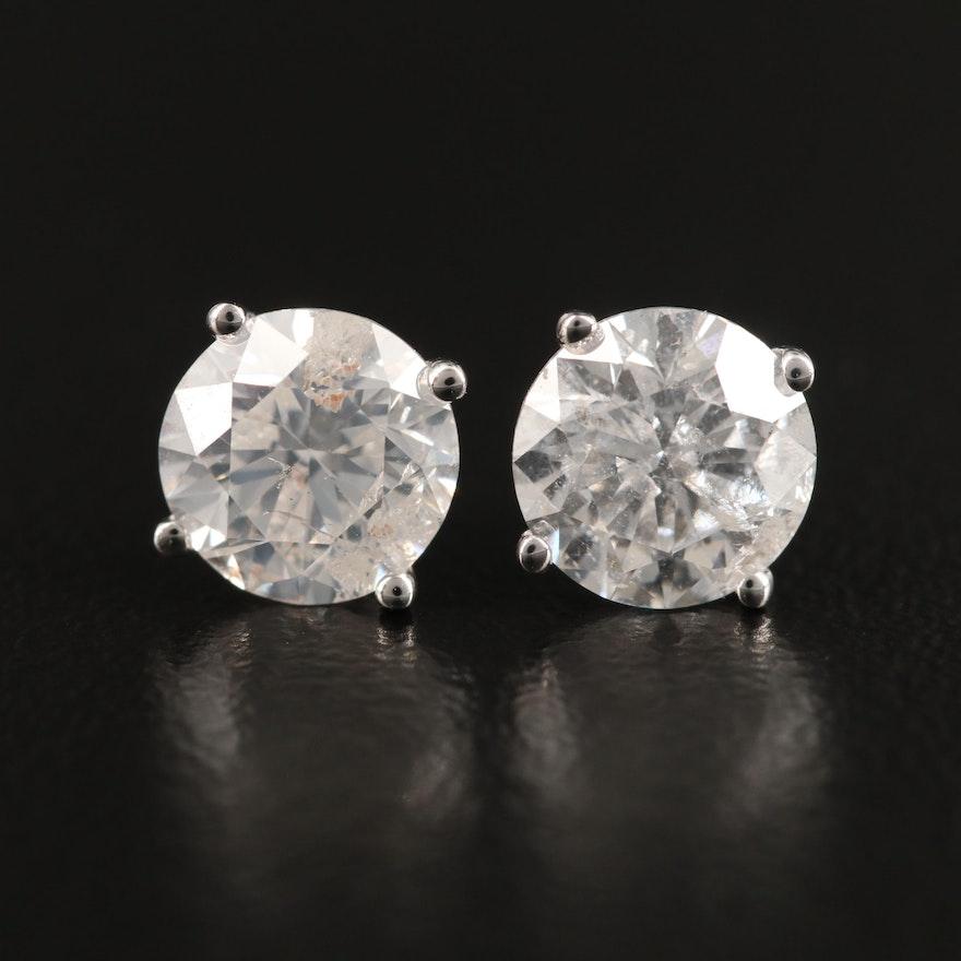 14K 1.71 CTW Diamond Stud Earrings