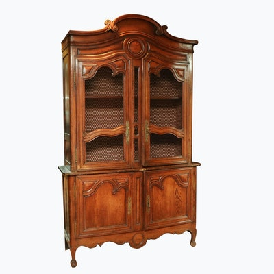 French Provincial Oak Cabinet, 19th Century