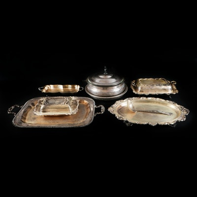International Silver and Other Silver Plate Serving Pieces, Early to Mid 20th C.