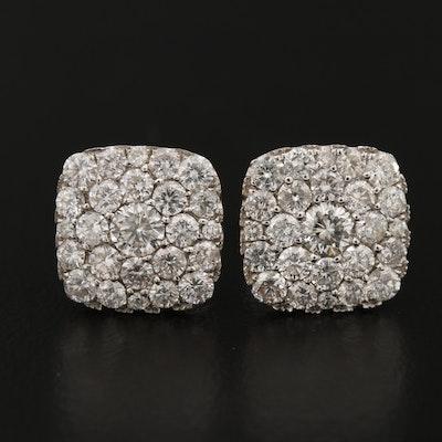 Shy Creation 14K Pavé 1.90 CTW Diamond Earrings
