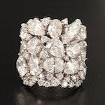14K 9.63 CTW Diamond Cluster Ring