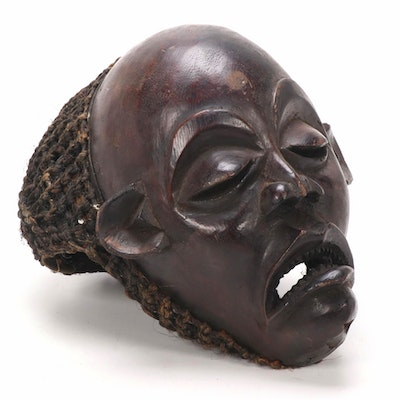 Chokwe Style Hand-Carved Mask, Central Africa
