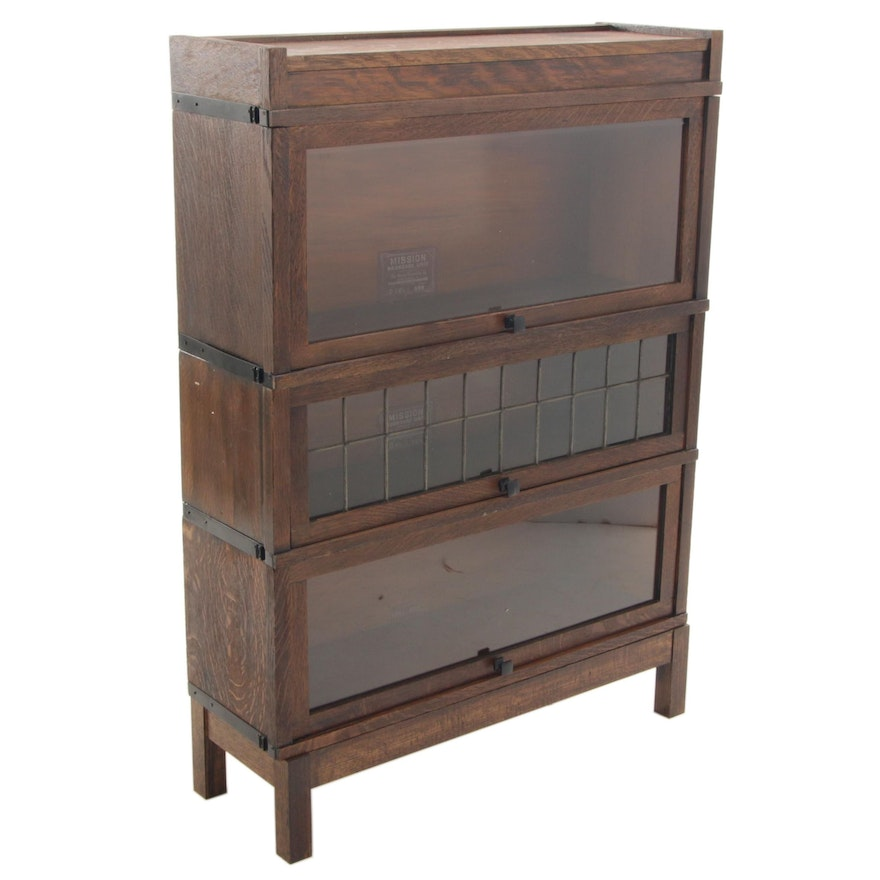 Globe-Wernieke Mission Oak Sectional Barrister's Bookcase, Early 20th Century